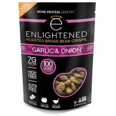 Enlightened Roasted Broad Bean Crisps Gluten Free Garlic & Onion -- 4.5 oz pack of 4