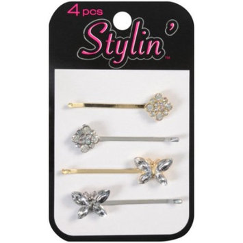 Stylin' Bobby Pins, 4 count