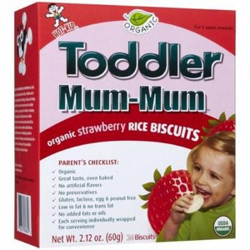 Hot-Kid Toddler Mum-Mum Organic Strawberry Rice Biscuits, 24 count, 2.12 oz