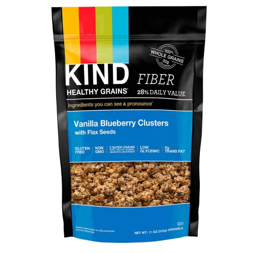 KIND Bars, Healthy Grain, Vanilla Blueberry Clusters with Flax Seeds, 11 oz