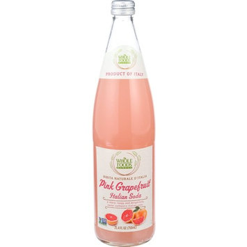 Whole Foods Market, Pink Grapefruit Italian Soda, 25.4 fl oz