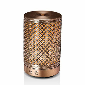 Essential Oil Diffuser, Aromatherapy Metal Diffusers for Essential Oils, 7 Color Light Mini Air Diffuser Humidifier for Baby Home Office Kids Room