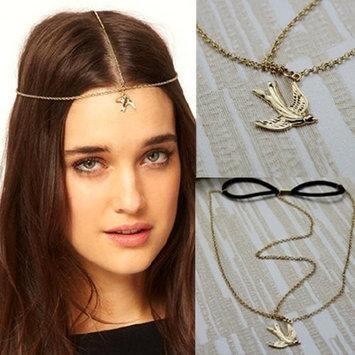 MyMei Chic Gold Swallow Chain Headdress Headband Headwarp Hair Cuff Wrap Punk