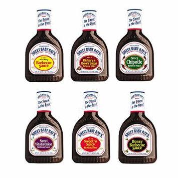 Sweet Baby Rays BBQ Sauce Variety Pack: Original/Honey BBQ/Sweet & Spicy/Hickory Brown Sugar/Honey Chipotle/Sweet Vidalia Onion