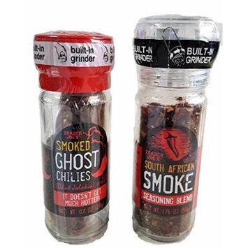 Trader Joe's Ghost Chili's and South African Smoke Seasoning Gift Set 2 Piece Bundle