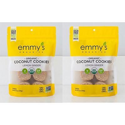 Emmy's Organics Lemon Ginger Coconut Cookies, 6 Oz. (Pack of 2)