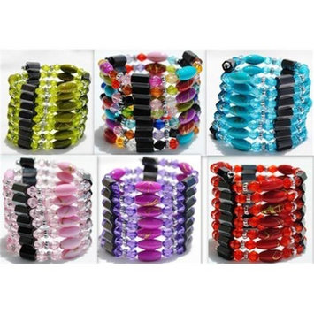 Bulk Buys Magnetic Hematite Wraps-Lariats-Necklace-Bracelet for Man and Woman - Case of 120