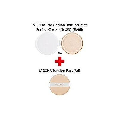 MISSHA The Original Tension Pact [Perfect Cover] Refill No.23 + Tension Pact Puff