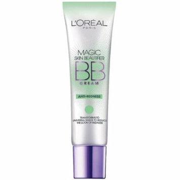L'Oreal Paris Magic Skin Beautifier BB Cream, Anti-Redness 1 oz (Pack of 6)
