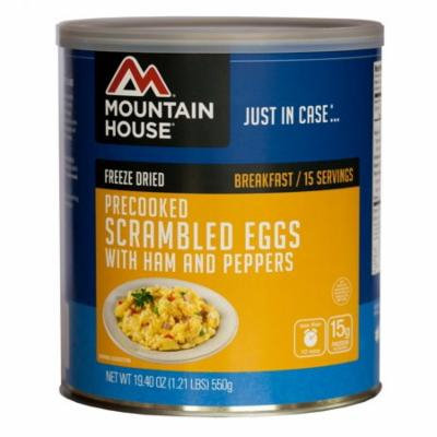 Mountain House - (6 Pack) Scrambled Eggs with Ham & Peppers Breakfast - #10 Can
