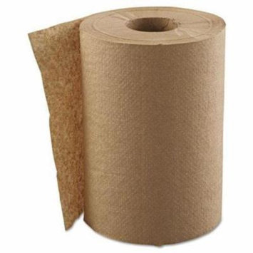 Generations Consumer Products Hardwound Roll Towels, 1-Ply, Brown, 8