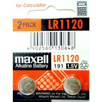 2 PACk MAXELL AG8 191 LR55 LR1120 Button Cell Battery