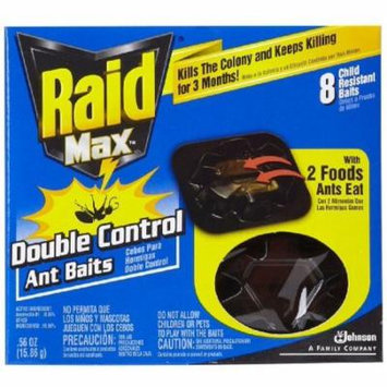 Raid Max Double Control Ant Baits, 0.28 Ounces, 8 count