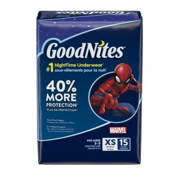 GoodNites Bedtime Pants for Boys Jumbo Pack (Choose Your Size) 15 ct Pack