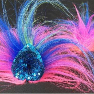 Kritter Klips Handcrafted Realistic Clip-On Hair Accessories- Rainbow Sparkle Fantasy Ears