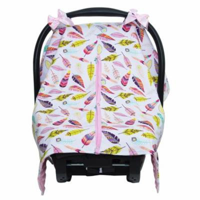 JLIKA car seat canopy cover - Pink Feathers