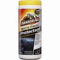 Armor All Matte Finish Protectant Wipes, Auto Protectant, 25 Count