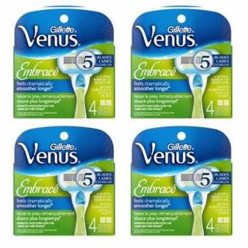 Gillette Venus Embrace Refill Blades, 4 Ct (Pack of 4)