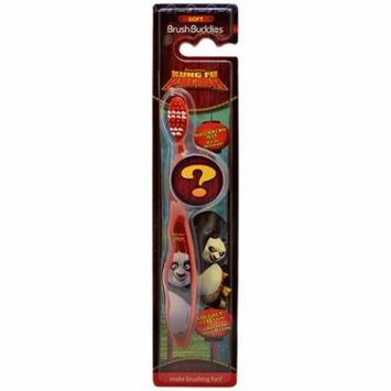 Kung Fu Panda Toothbrush Kit With Mystery Hologram Travel Cap by Brush Buddies, 1 Pack