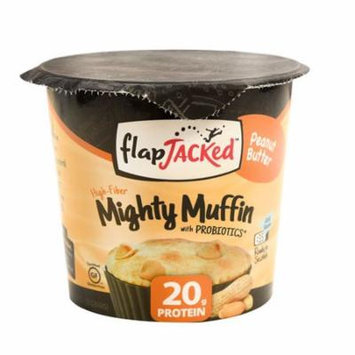 FlapJacked Mighty Muffin with Probiotics Peanut Butter -- 1.94 oz pack of 4
