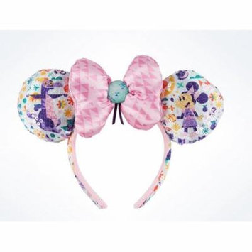 Disney Parks Epcot Flower & Garden 2017 Minnie Icon Bow Figment Ear Headband New