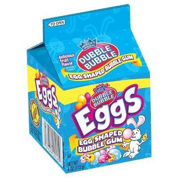 Dubble Bubble Easter Egg Shaped Bubble Gum, 4 oz Carton (Pack of 4)
