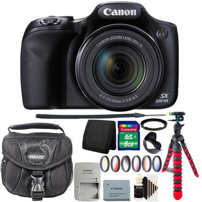 Canon PowerShot SX530 HS 16MP WiFi Digital Camera with 8GB Accessory Kit Black