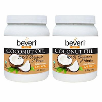 Beveri Organic 100% Virgin Coconut Oil, 54 Ounce (Pack of 2)