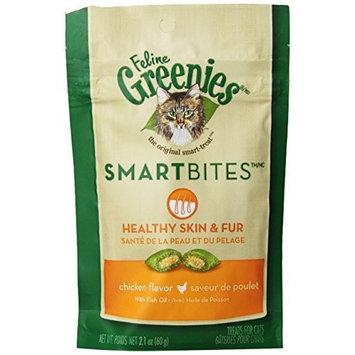 FELINE GREENIES 6-Pack Feline Smart Bites Treat, 2.1-Ounce [Skin and Fur Chicken]