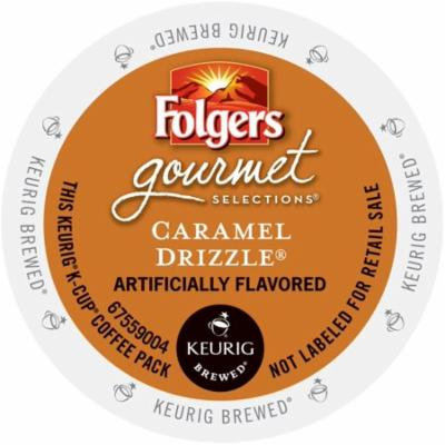 Folgers Gourmet Selections Caramel Drizzle Coffee, K-Cup Portion Pack for Keurig Brewers (96 Count)