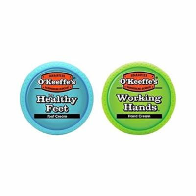 O'Keeffe's Working Hands & Healthy Feet Combination 2 Pack of Jars