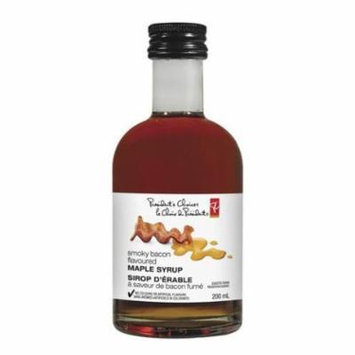 Presidents Choice Smoky Bacon Flavoured Maple Syrup 200ml/6.76 fl oz {imported from Canada}