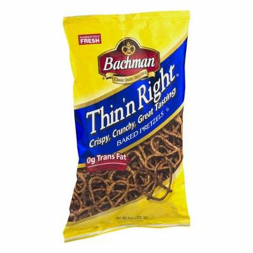 Bachman Thin'n Right Baked Pretzels 9 Oz (3 Bags)