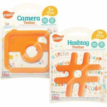 Ulubulu Expression Camera Teether and Hashtag Teether Combo