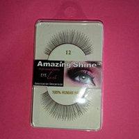 Amazing Shine Human Hair False Eyelashes - 12