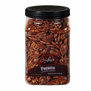Jaybee's Whole Roasted Salted Pecans - Great for Gift Giving or As Everyday Snack - Reusable Container - Certified Kosher (26 Ounces)