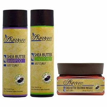 Savannah Hair Therapy Shea Butter Shampoo & Conditionel & Treatment Masque