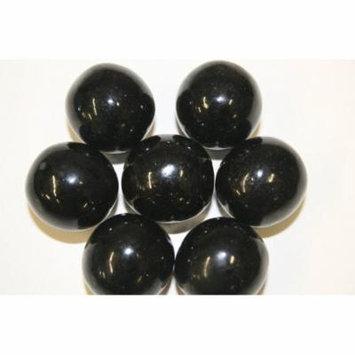 GUMBALLS BLACK 25mm or 1 inch (57 count), 1LB