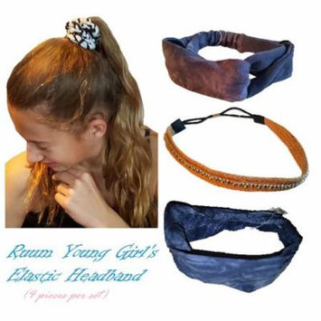 Ruum Girl's Fashionable 4 pieces Assorted Elastic Headband