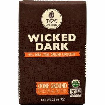Taza Chocolate Dark Chocolate Bar Stone Ground Wicked Dark -- 2.5 oz pack of 3