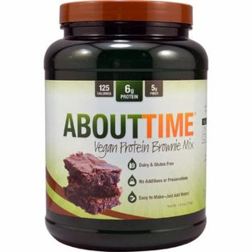 About Time Vegan Protein Brownie Mix -- 1.5 lbs pack of 1