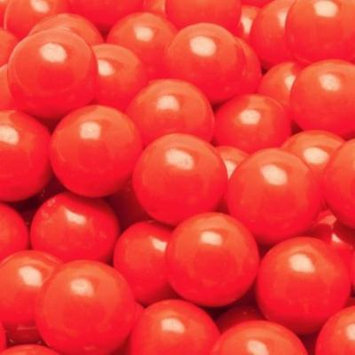 BAYSIDE CANDY GUMBALLS REALLY!! CHERRY BUBBLE GUM 25mm or 1 inch , 5LBS