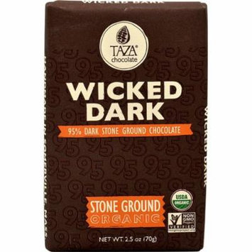 Taza Chocolate Dark Chocolate Bar Stone Ground Wicked Dark -- 2.5 oz pack of 1