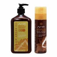 Amir Argan Oil Touch of Tan Moisturizer 18oz & Touch of Bronze Sunless and Bronzing Moisturizer 7oz