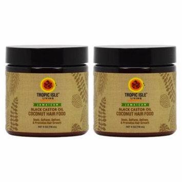 Tropic Isle Living Jamaican COCONUT Black Castor Oil Hair Food 4oz