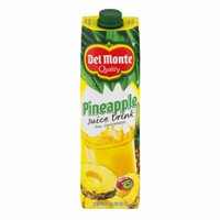 Del Monte Juice, Pineapple, 33.8 Fl Oz, 1 Count