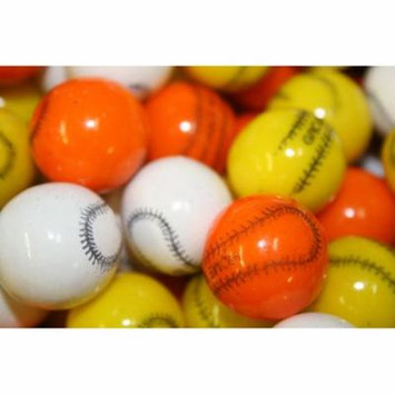 BAYSIDE CANDY GUMBALLS BASEBALL BUBBLE GUM 25mm or 1 inch , 1LB