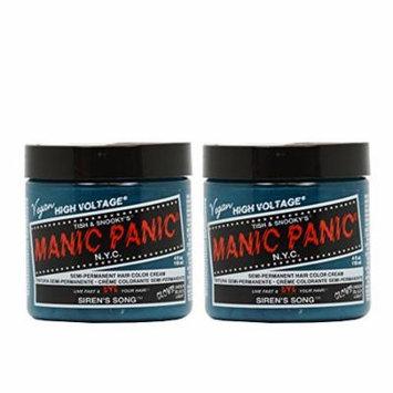 Manic Panic Semi-Permanent Hair Color Cream - Siren's Song 4oz