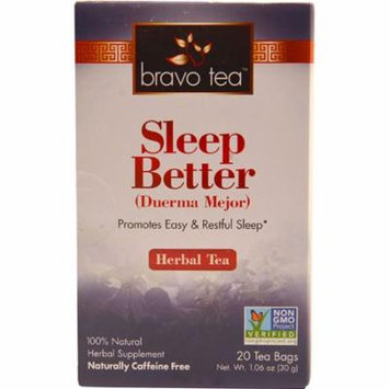 Bravo Tea Sleep Better Herbal Tea -- 20 Tea Bags pack of 12