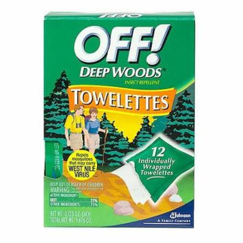Deep Woods Off! Insect Repellent Towelettes 12.0 ea(pack of 1)